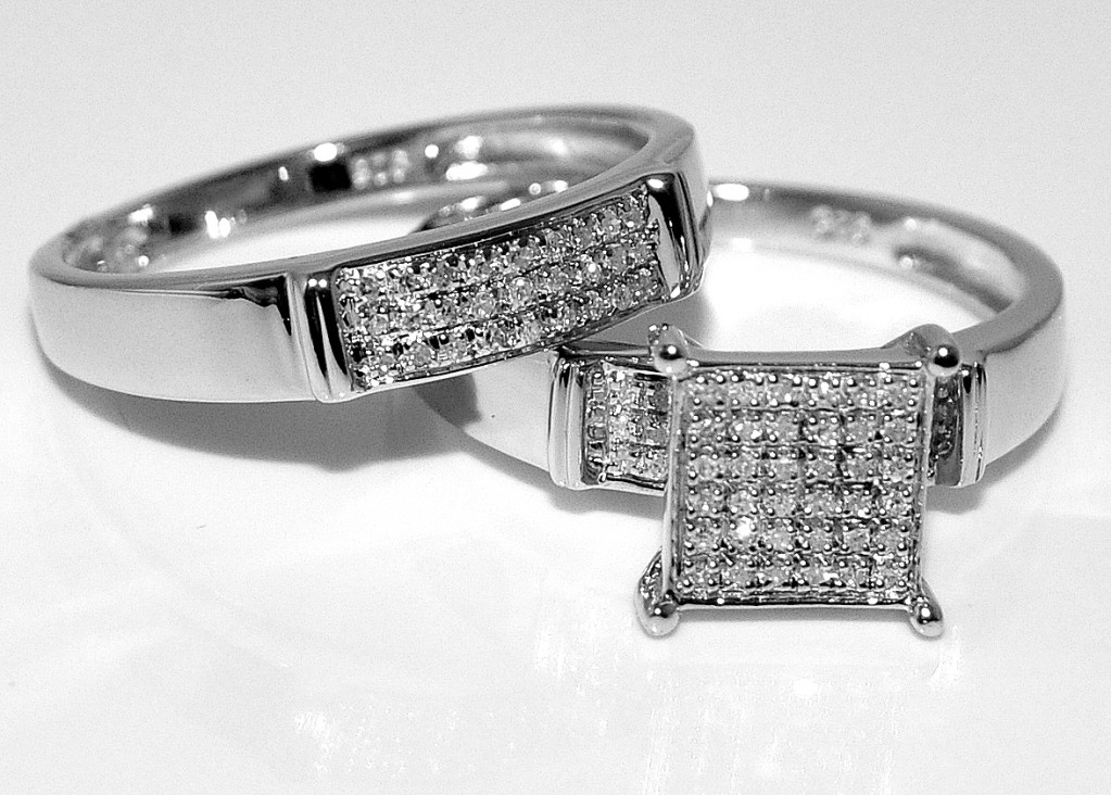 : trio wedding rings set
