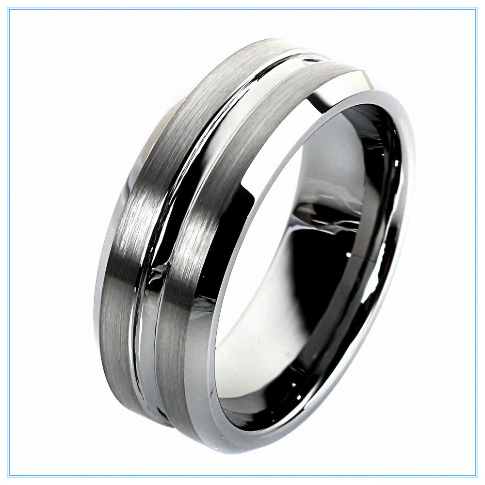 : tungsten carbide wedding ring