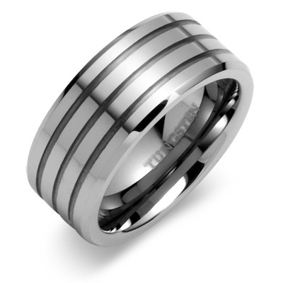 : tungsten mens wedding ring