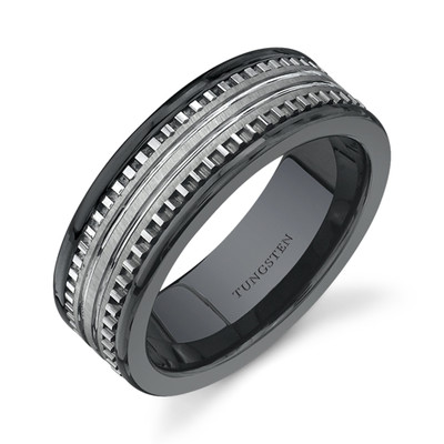 : tungsten wedding ring sets