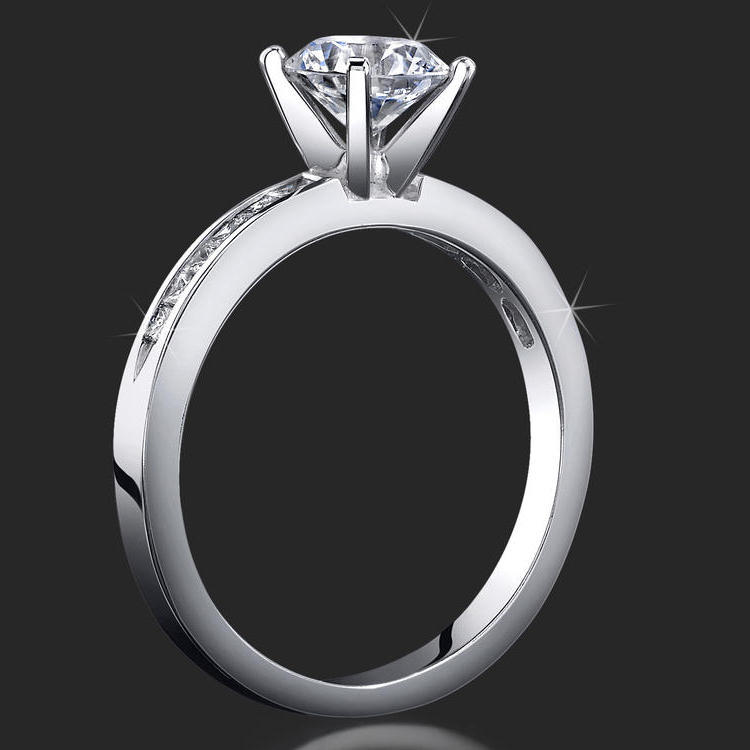 : unique engagement ring setting