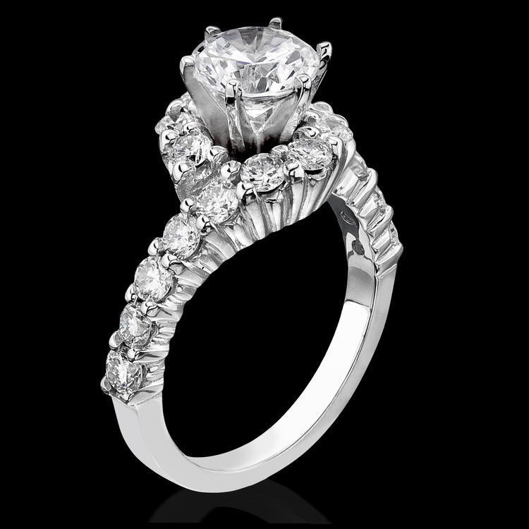 : unique engagement ring settings