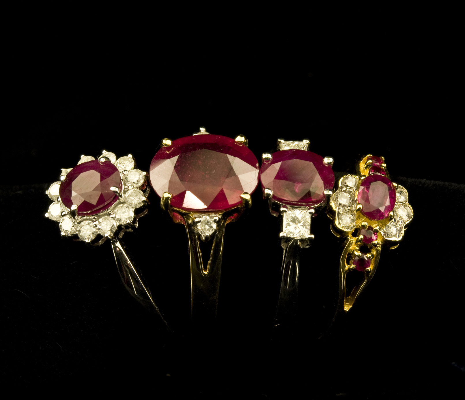 : vintage ruby wedding rings