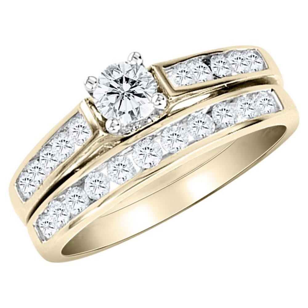 : wedding and engagement ring sets