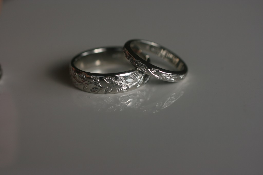 : wedding ring engraved ideas
