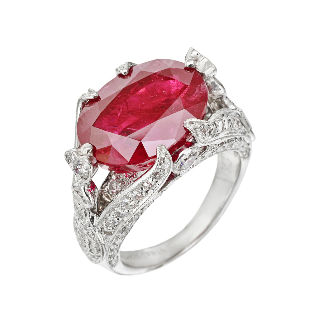 : wedding ring ruby