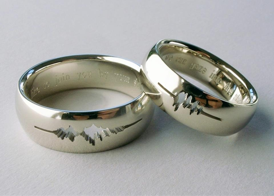 : wedding rings engraved