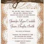 : western wedding announcements