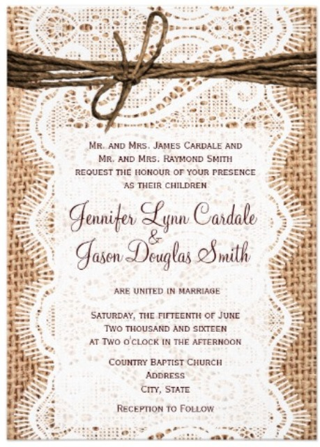 western wedding announcements