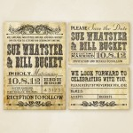 : western wedding invitations