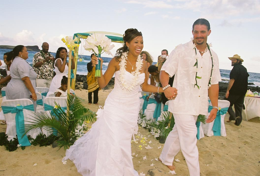: white hawaiian wedding dresses