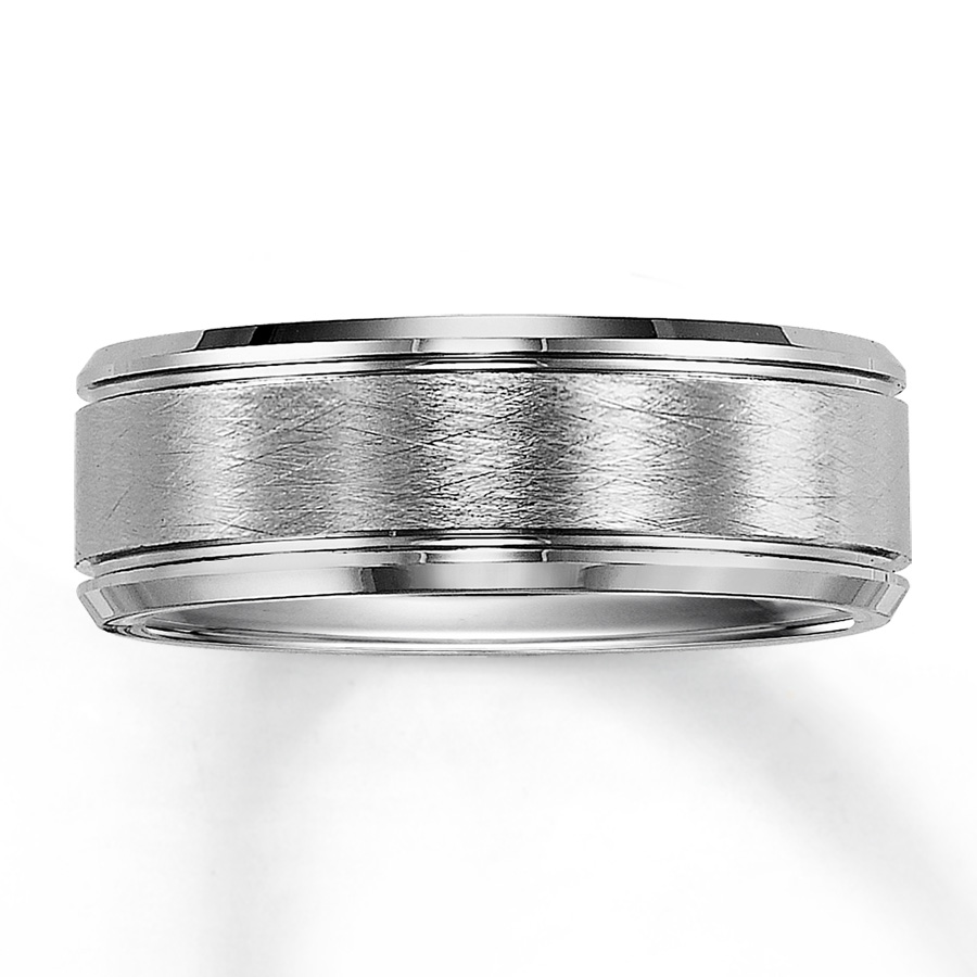 : white tungsten carbide wedding bands
