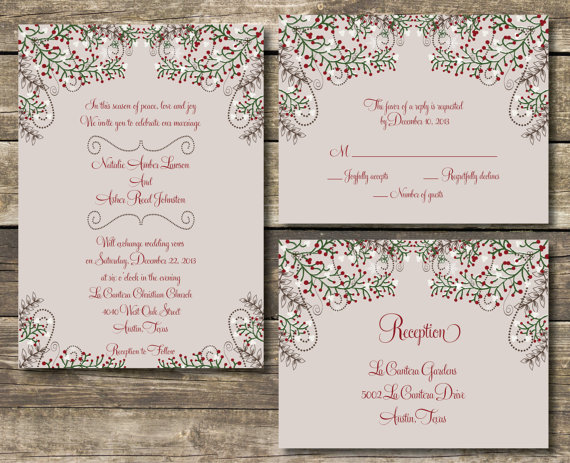 winter wedding invitation wording