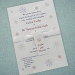 : winter wedding invitations snowflake
