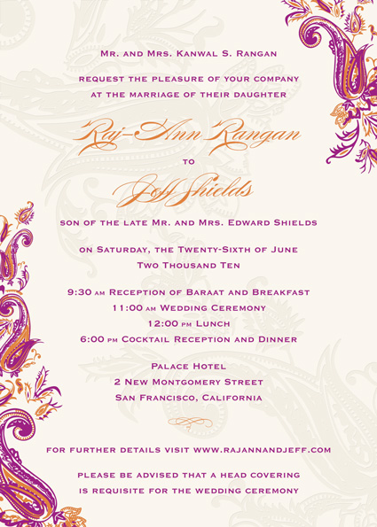 wording for wedding invitation