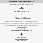 : wording for wedding reception invitations