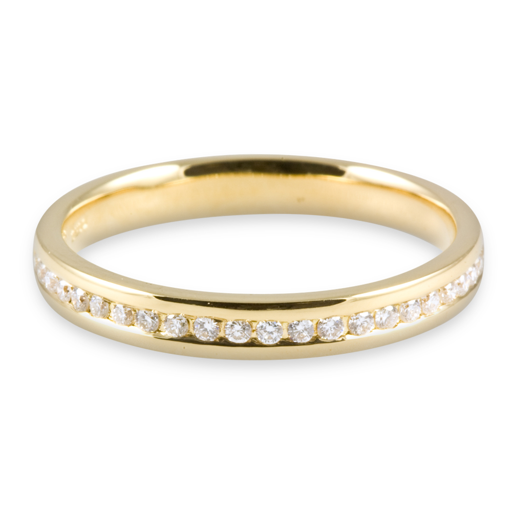 : yellow diamond wedding rings