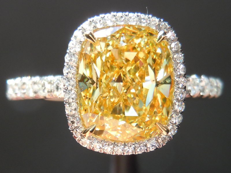 : antique canary diamond engagement rings