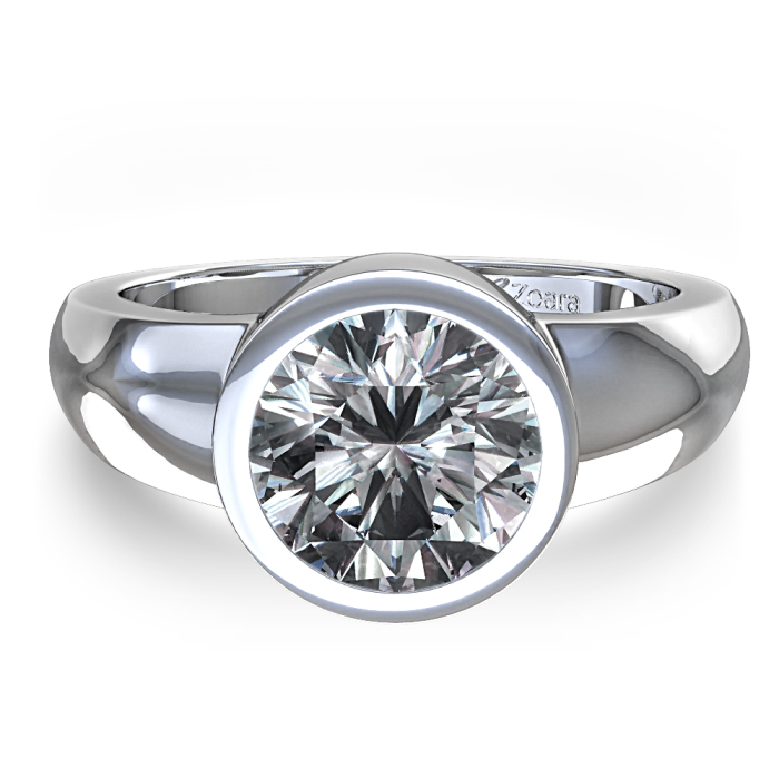 : bezel engagement ring