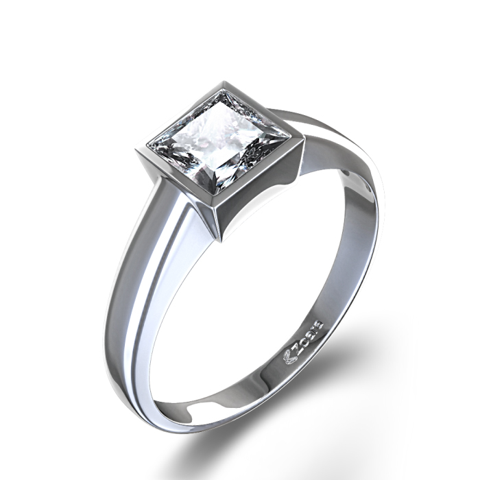: bezel set diamond ring
