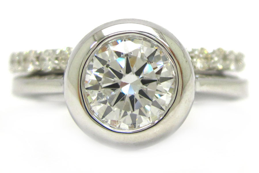 : bezel set engagement ring