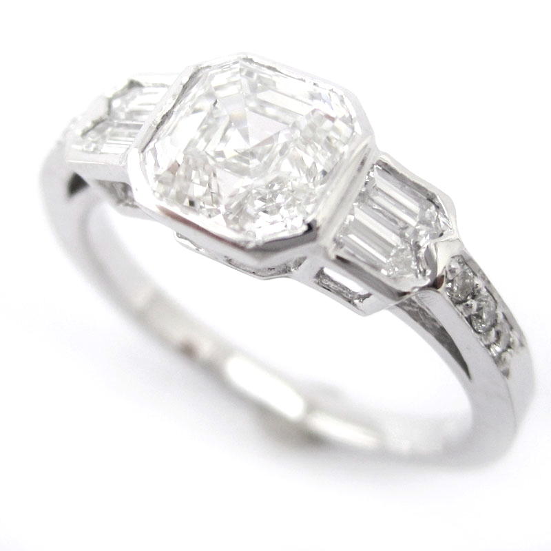 : bezel setting diamond ring