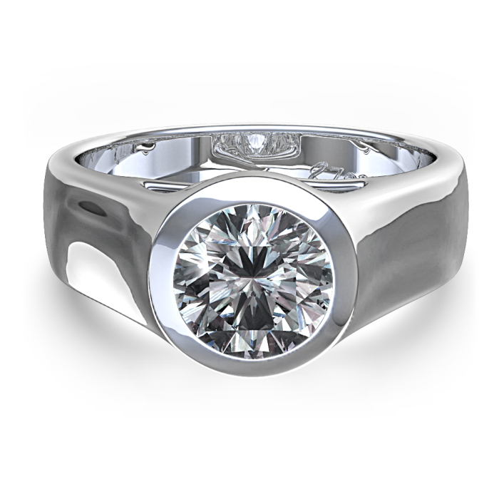 : bezel setting engagement ring