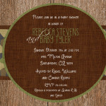 : camo baby shower invitations