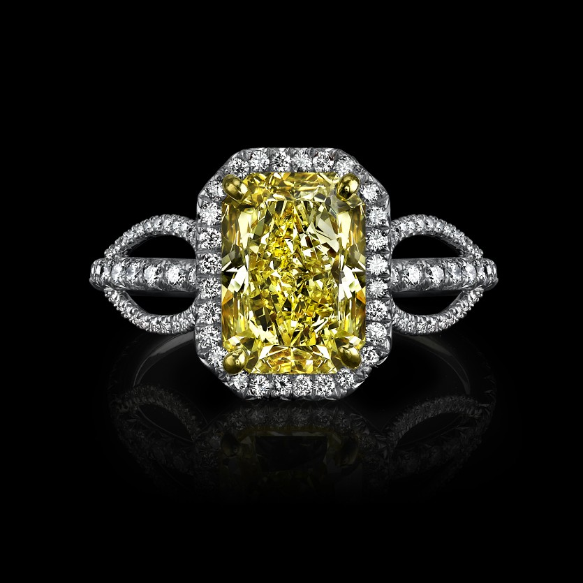 : canary diamond engagement rings meaning