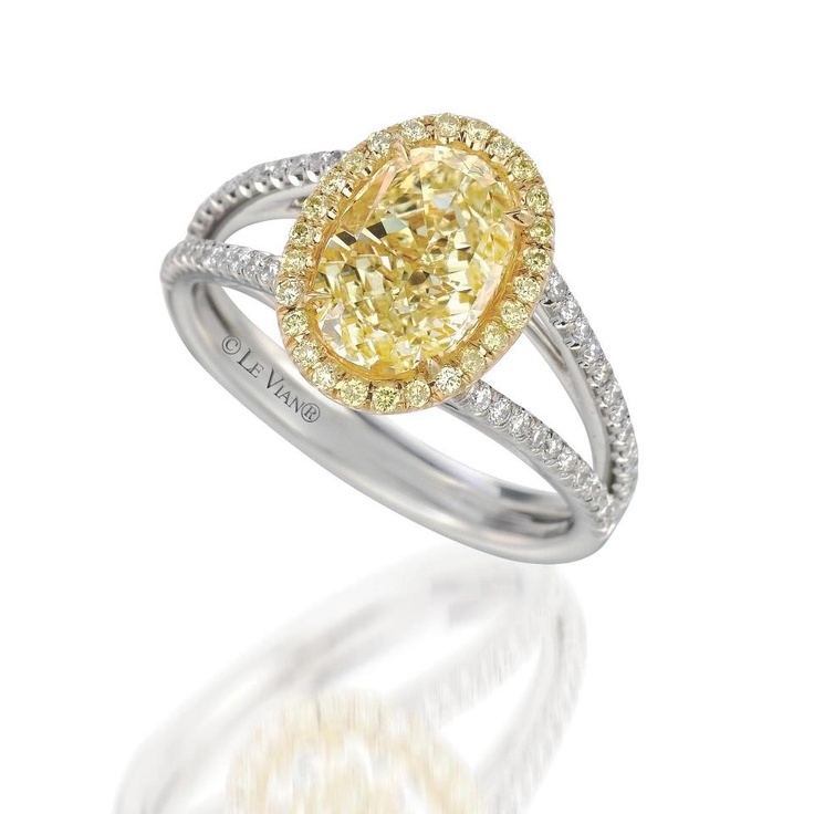 : canary diamond engagement rings