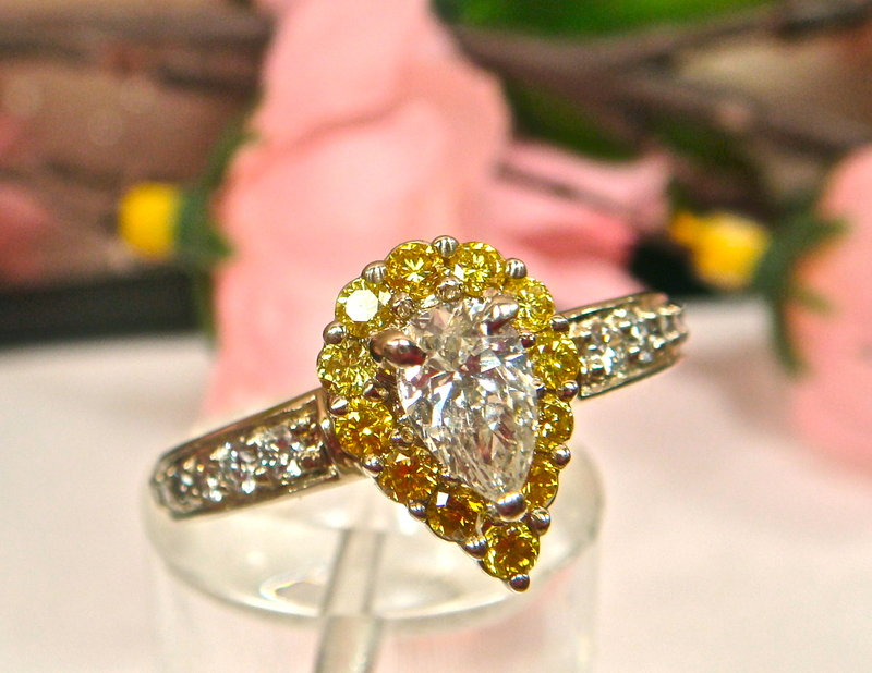 : canary diamonds engagement rings