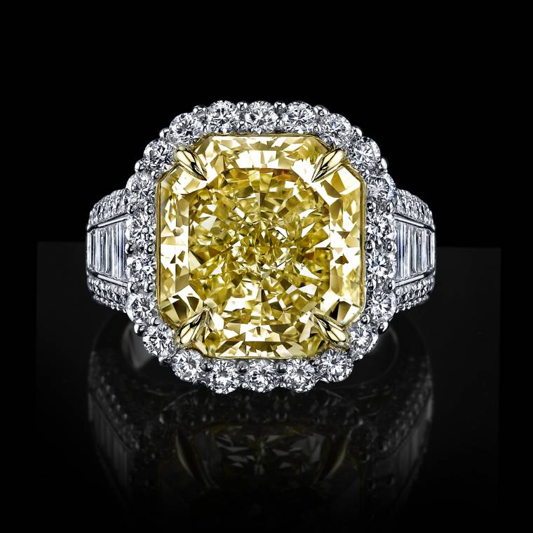 : canary engagement ring