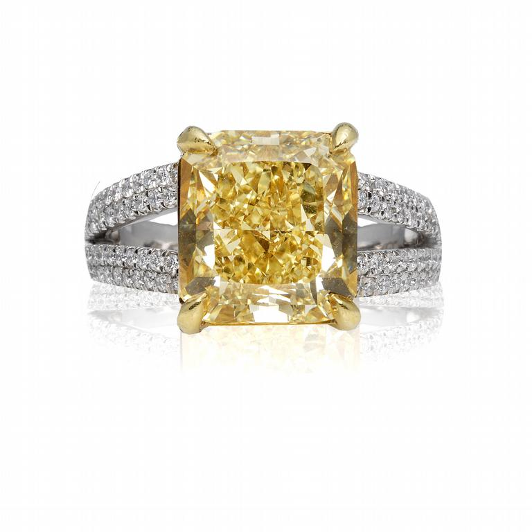 : canary engagement rings