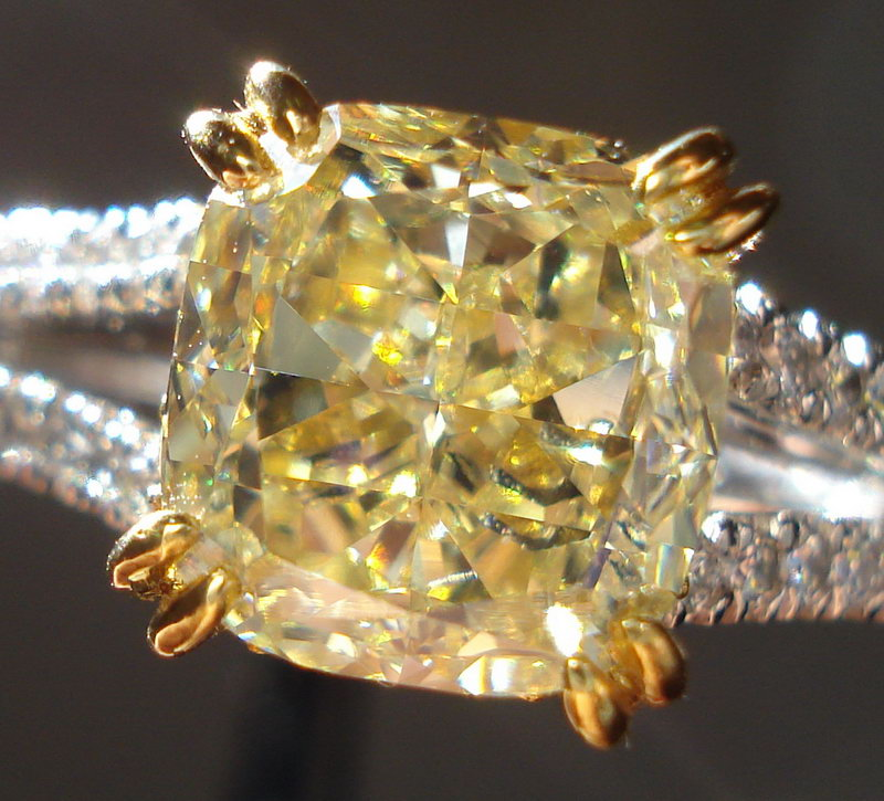 : canary yellow diamond engagement ring