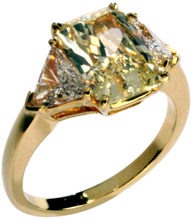 : canary yellow diamond engagement rings