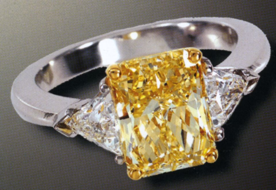 : canary yellow engagement rings