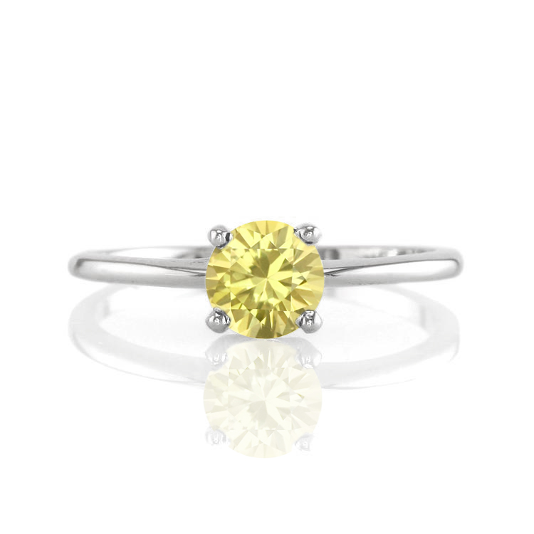 : cushion cut canary diamond engagement rings