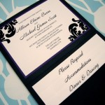 : custom pocket wedding invitations