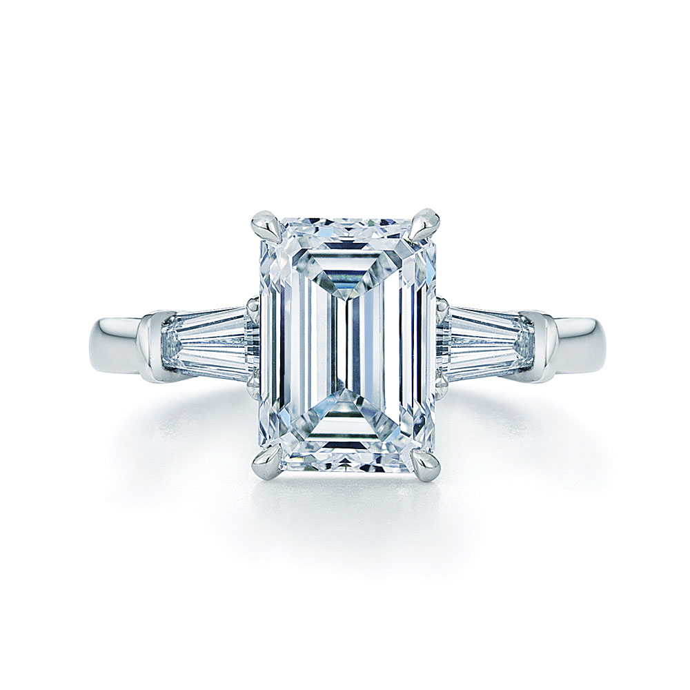 : emerald cut engagement rings