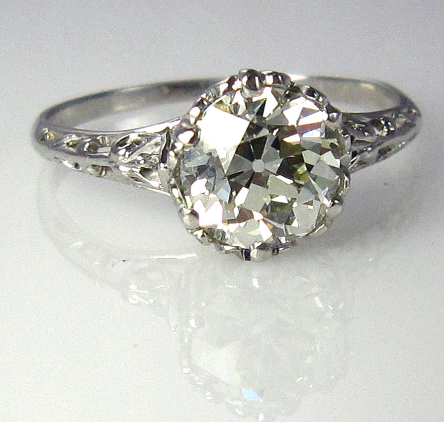 : estate engagement rings