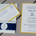 : nautical theme wedding invitations