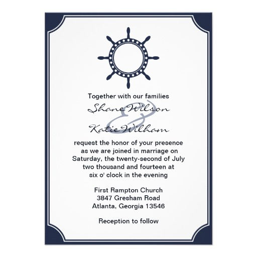 nautical wedding invitation wording