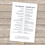 : nautical wedding programs