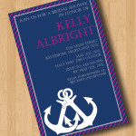 : nautical wedding shower invitations