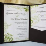 : pocket fold wedding invitations