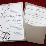 : pocket wedding invitations