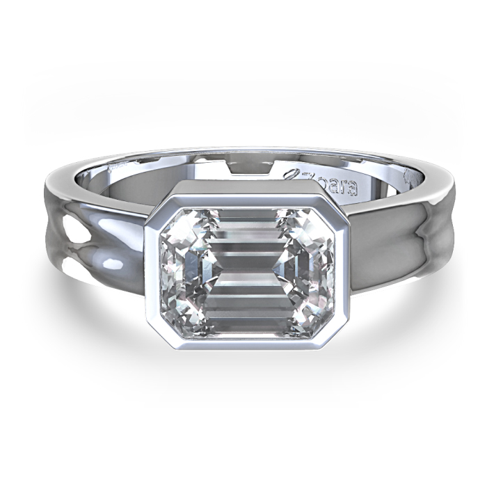 : semi bezel set engagement rings