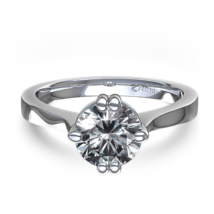 : unique diamond engagement ring settings
