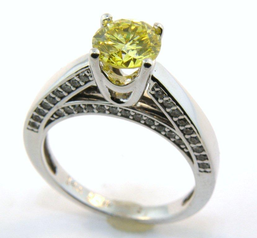 : vintage canary diamond engagement rings
