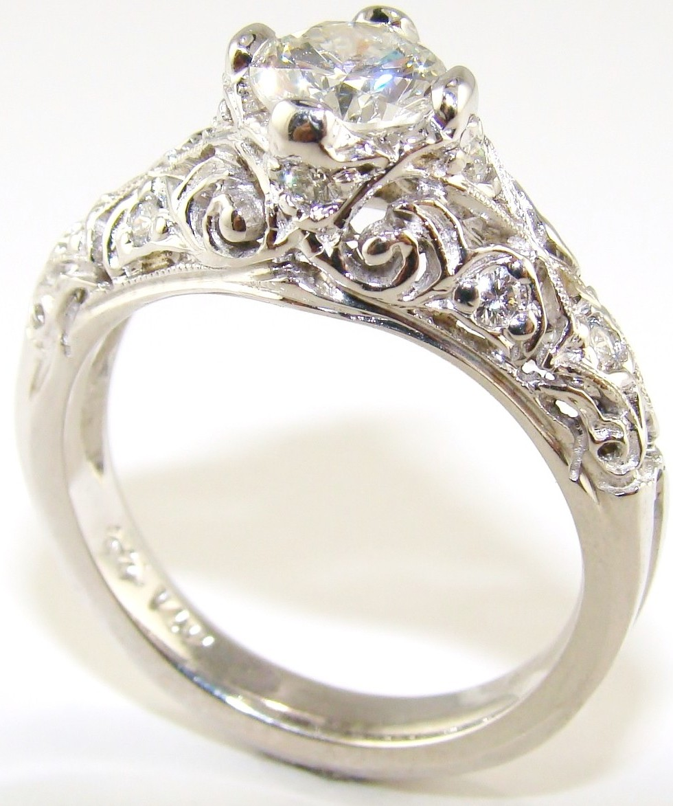 : vintage engagement rings
